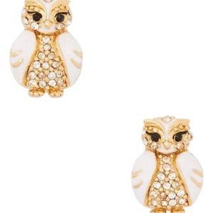 Kate Spade Star Bright Owl Earrings NWT